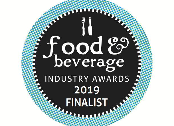 Finalist for packaging innovation for the Food & Beverage awards 2019